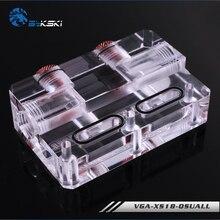 VGA XS18 QSQUALL Bykski, mostek blokowy GPU typu L, mostek akrylowy, do montażu bloku wodnego GPU bykskiego