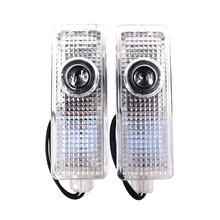 цена на 2pcs For BMW E90 E93 logo LED Car Door Welcome Laser Shadow Projector Logo Ghost Shadow Light Lamps Courtesy Laser fit for BMW