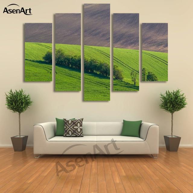 Pannello immagine della parete natura paesaggio pascolo for Pittura soggiorno moderno