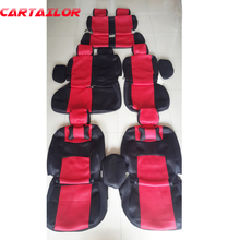 CARTAILOR car seat cover set for mitsubishi pajero seat covers & supports accessories sandwich fabric seats cushion protector