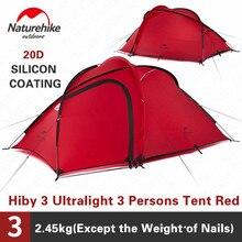 Naturehike Hiby Tenda Da Campeggio 3 4 Persone Famiglia Ultra luce Esterna di Campeggio di Doppio Strato Antipioggia Tenda di Viaggio Trekking NH17K230 P