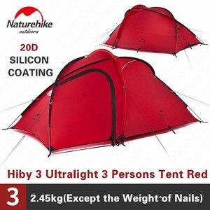 Image 1 - Naturehike Hiby kamp çadırı 3 4 kişi Ultra hafif açık aile kamp çift katmanlı yağmur geçirmez seyahat çadırı yürüyüş NH17K230 P