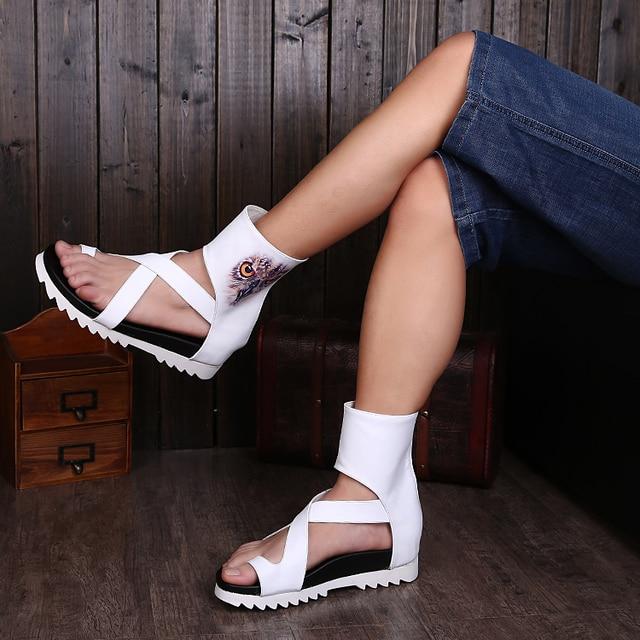 3c89bdecd Sandalias de gladiador a la moda para hombres sandalias de cuero para  hombres Sandalias planas de
