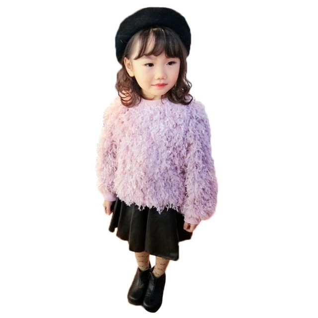 b9c18dfc0 Autumn Baby Girls Sweaters Winter Hairy Kids Clothes For Girl ...