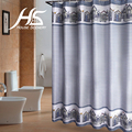House Scenery Polyester Mordern Striped Shower Curtain Cushion Navy 100% Polyester With Hooks Gift Copper Ring Strong Durable