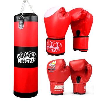 740c1b6ac Lutador de MMA muay thai Boxing Bag Gancho Pendurado Saco De Areia Boxeo  Esporte Saco de Areia Soco Punching e luvas de um conjunto