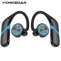 VCHICSOAR S280 Bluetooth Headphones IPX6 Waterproof CSR4 2 EDR TWS Dual Earbuds Wireless Earphones HIFI Stereo