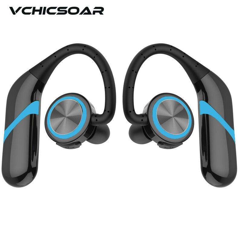 VCHICSOAR S280 Bluetooth Headphones IPX6 Waterproof CSR4.2+EDR TWS Dual Earbuds Wireless Earphones HIFI Stereo Headset with Mic