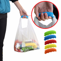 1PC Portable Silicone For Shopping Bag to Protect Hands Trip Grocery Bag Holder Handle Carrier Lock Home Too Kitchen Accessories