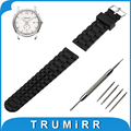 21mm 22mm 23mm 24mm Silicone Rubber Watch Band Stainless Steel Pin Buckle Strap for Hamilton Watchband Wrist Belt Bracelet
