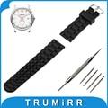 21mm 22mm 23mm 24mm faixa de relógio de borracha de silicone pulseira de aço inoxidável pin fivela de cinta para hamilton correia de pulso pulseira