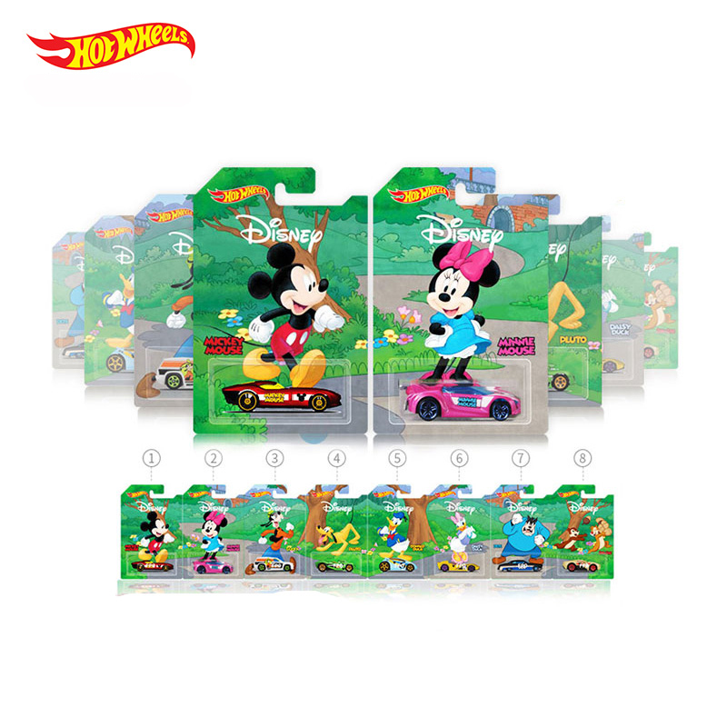 Hot Wheels 1:64 Car Mickey Minnie Collector's Edition 50th Anniversary Metal Diecast Cars Collection Kids Toys Vehicle For Gift