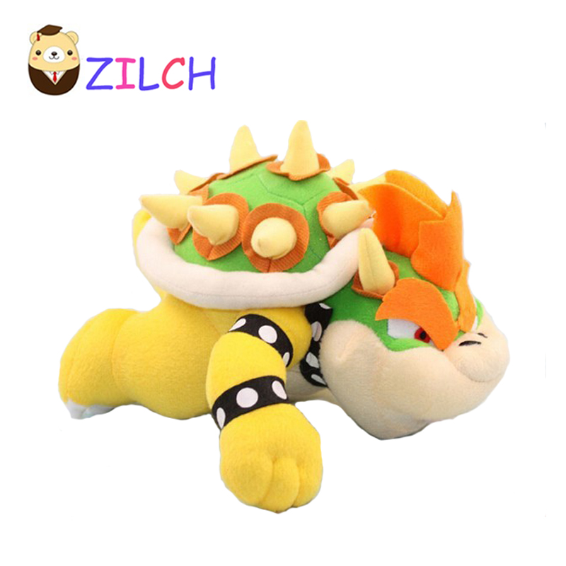Us 10 73 35 Off Drop Shipping 25cm 10 Inch Plush Doll Super Mario Bros Brothers King Koopa Bowser Toy For Kids Free Shipping In Movies Tv From