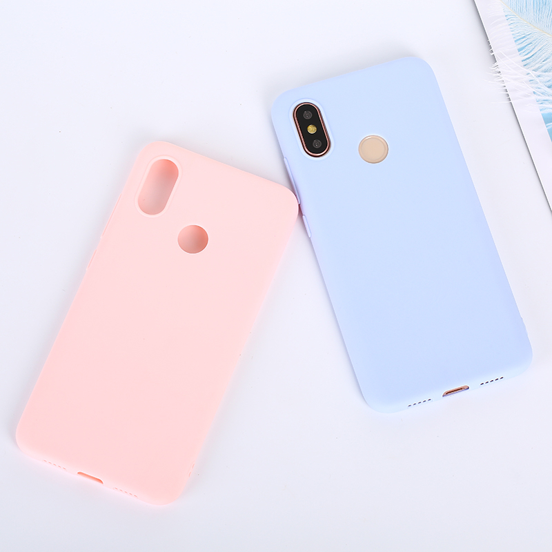 Candy Color Case For Huawei P Smart 2019 P30 Pro P10 P20 Mate 20 Lite 20X Y9 Y6 2018 On Honor 8C 8X Max 10 7A 7C Nova 3i 3 Cover in Half wrapped Cases from Cellphones Telecommunications