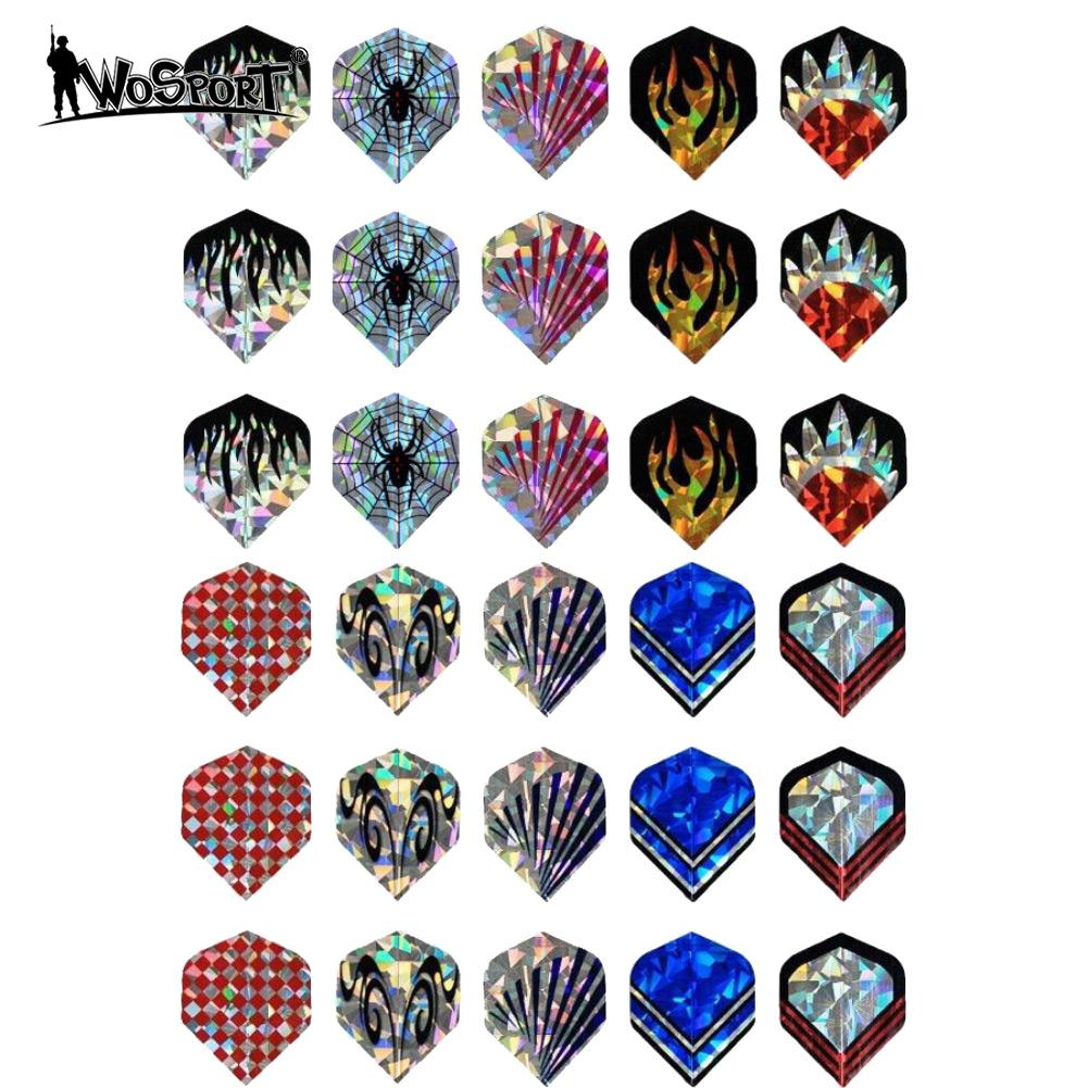 Professional 10 Sets 30 Pcs Of 2D Bling Dart Flights Laser Wing Flight Darts Accessories Entertainment