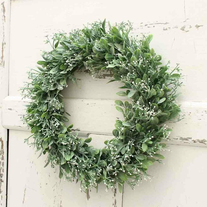 New Wreath Grasses Art Plant Green Door Wreath Decoration Decoration Flower Grasses Decorate Your House And Make It Look Vibrant