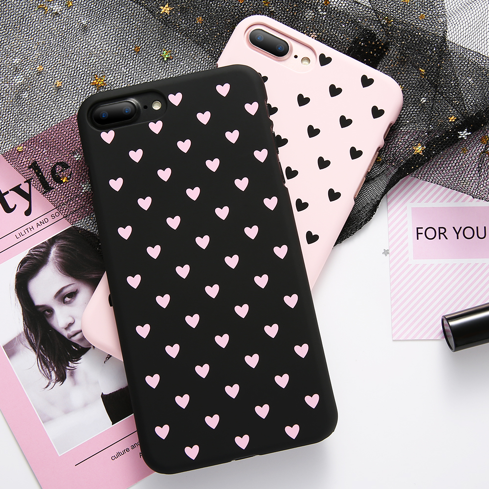 KISSCASE Cute Heart Case For iPhone 5 5s SE 6 6s 7 8 Plus X XR XS MAX Hard PC Sports Vintage Patterned Fundas Phone Covers Cases in Fitted Cases from Cellphones Telecommunications