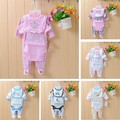 Baby infant cartoon suits 4 pcs sets girls lovely cartoon jumpsuits long sleeve bodysuits Footies+Bodysuits+Hat+Bibs