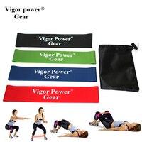 Vigor Power Gear 4 Niveaux Pull Up Expander boucle de Remise En Forme en caoutchouc boucle sac De Yoga bandes de Résistance de Boucle Bandes avec noir comme cadeau