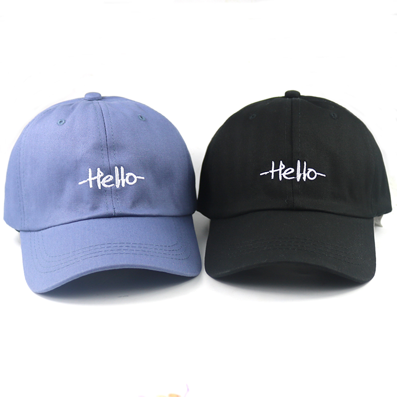 2018 new hello dad hat embroidery adjustable cotton baseball cap women sun  hat men sports hats 7fab34768eb2