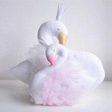 INS Горячая Распродажа,, милая Двусторонняя Подушка с рисунком лебедя для девочек, детская кровать, украшение для комнаты, подарок для ребенка