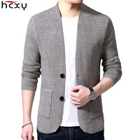HCXY 2019 Men's Cardigan Sweater Blazer version Outwear Men Sweaters Man Coats Jackets Fashion 4 seasons Solid color Slim fit