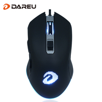 Dareu Professional Wired Gaming Mouse 6 Button 4000DPI RGB LED Optical USB Gamer Computer Mouse Backlight