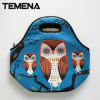 TEMENAbolsa Termica Thermo Thermal Bag Insulated Cooler Bag Kids Neoprene Lunch Bag Box Food Container Mother