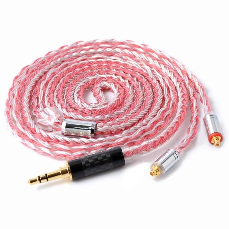 NICEHCK 16 rdzeń srebrne miedziane kabel mieszany 3.5/2.5/4.4mm MMCX/2Pin dla TFZ TRN KZAS10/ZS10/AS06 CCAC16/C10 NICEHCK NX7/M6/F3/F4