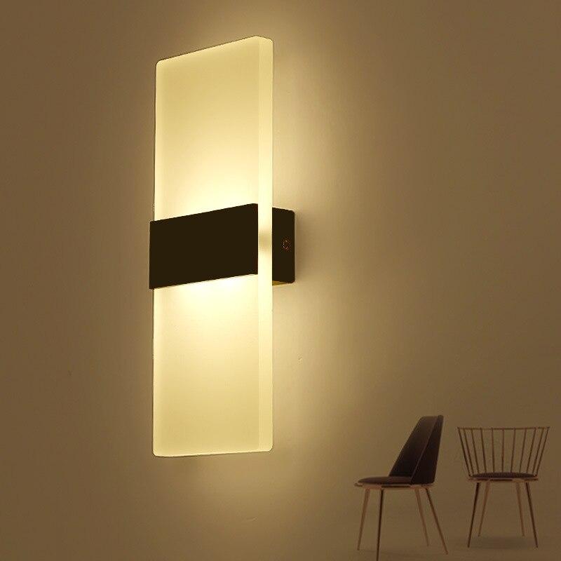3 Вт Led акриловые настенный светильник AC85-265V Настенные Бра Лампа декоративная Гости ...