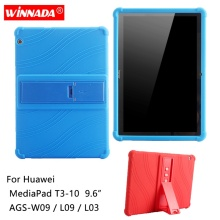 купить Silicone case for Huawei MediaPad T3 9.6 inch soft rubber tablet cover AGS-W09/L03/L09 coque para for Honor MediaPad T3-10 9.6 дешево