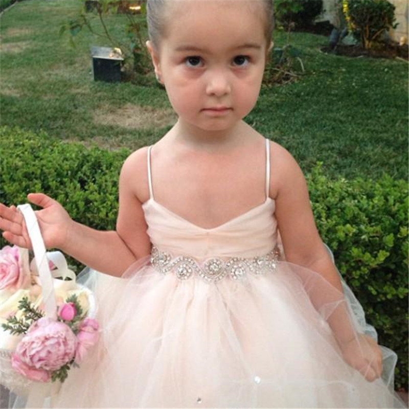 Ball Gown   Flower     Girl     Dresses   Appliques   Girls   Pageant Gowns Vintage Communion   Dress   Big Bow Back Custom Made Puffy Tulle