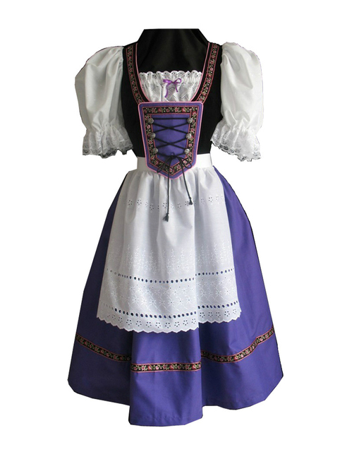 Halloween Party Women Sexy French Maid Costumes Exotic Servant Lovely  Bar Girls Cosplay Dress With Apron Size S-XL