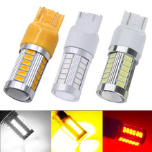 buy led w21 5w and get free shipping on aliexpress com2pcs t20 w21 5w 7443 7440 w21w 5630 33smd led car brake light white red