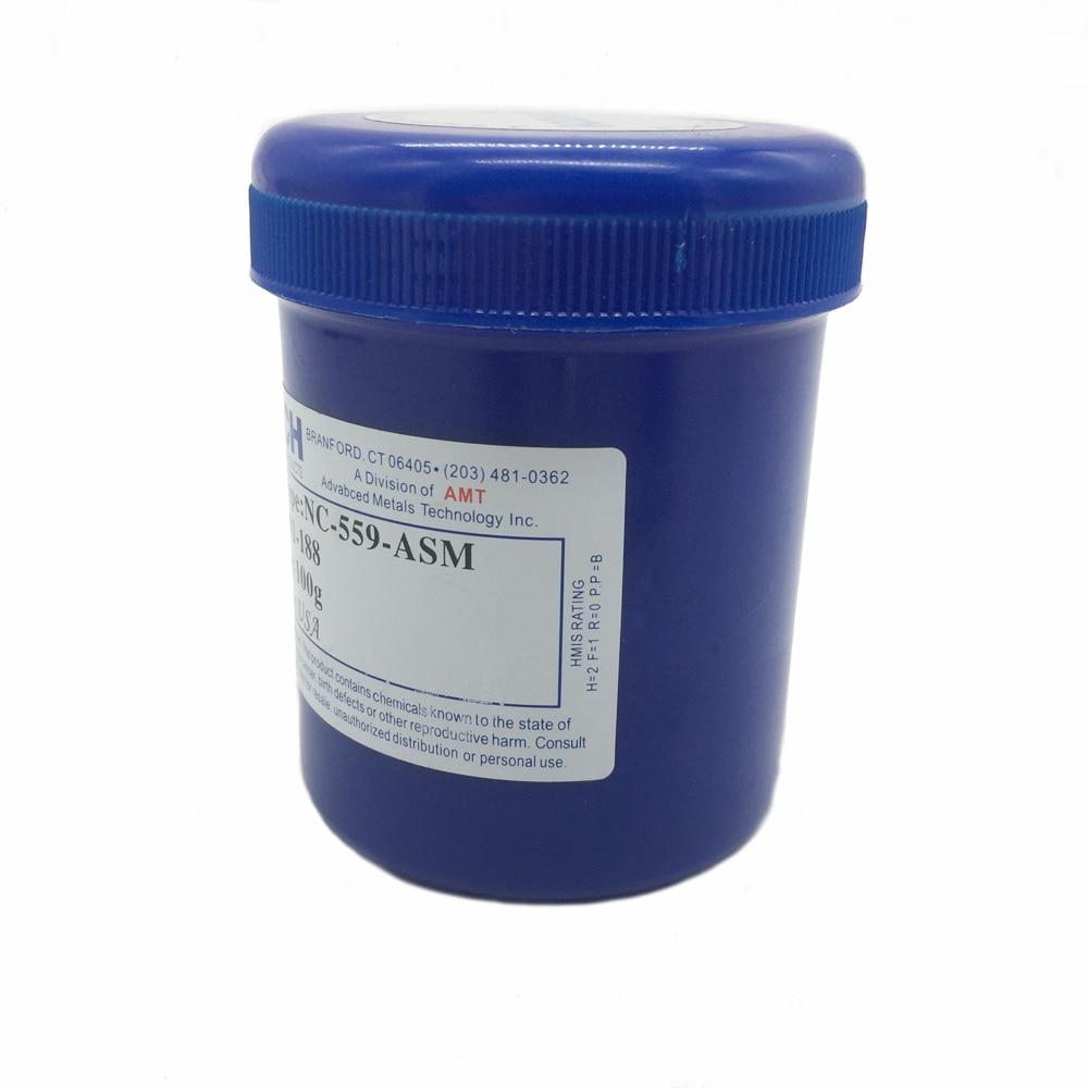 Alta calidad envío libre NC-559-ASM 100g plomo pasta de flujo de soldadura para SMT BGA soldadura de reparación de soldadura pasta