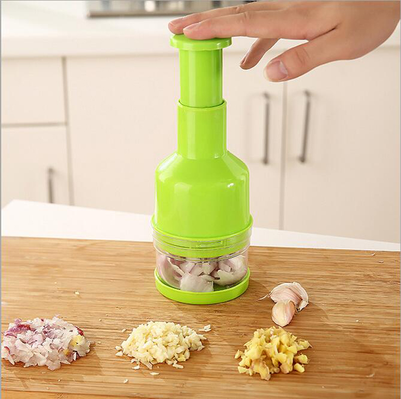 New colorful Multifunction Kitchen garlic vegetable shredder creative Holder Slicer Onion Fruit Vegetable Cutter Tools