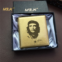 Vintage style Che Guevara brass rolling craft male e cigarette case 20 high quality cigarette boxes with gift box