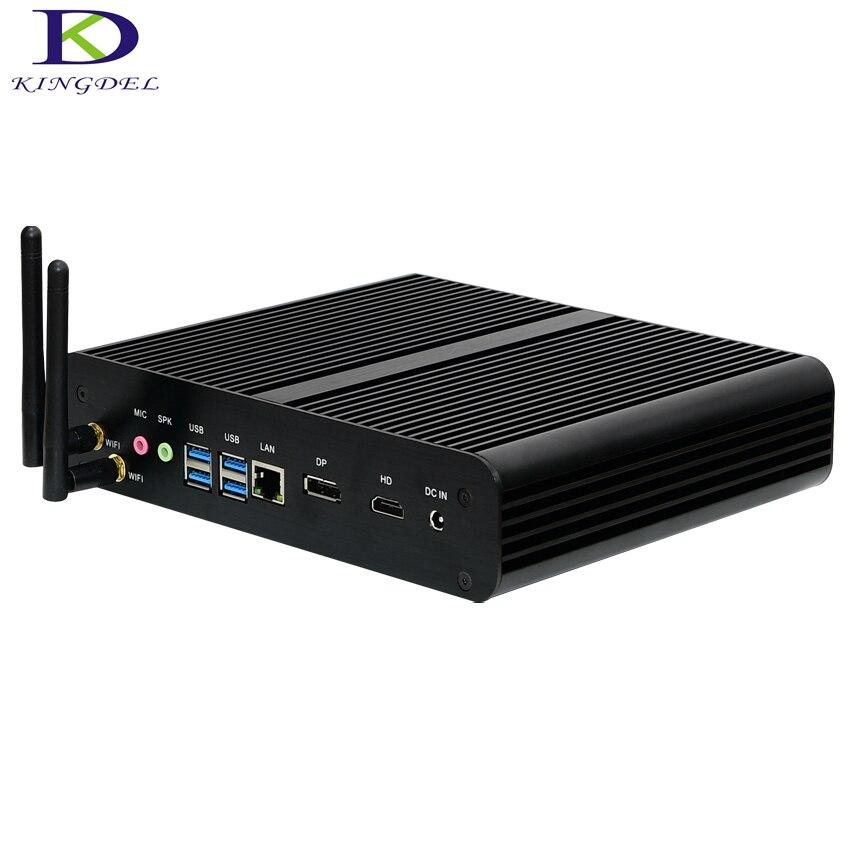 6-го поколения i7 6500U процессор безвентиляторный мини ПК i7 SKYLAKE неттоп HTPC 16 Гб RAM Blu-Ray микро ПК маленький размер мини компьютеры