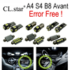 18pc Excellent Canbus Error Free For Audi A4 S4 B8 Avant LED Interior Dome Light Kit