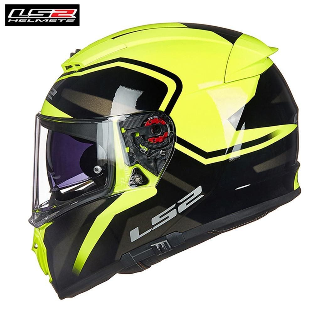 LS2 FF390 Disjoncteur Plein Visage Moto Casque Hommes Racing Casque Casco Moto Capacetes de Motociclista Moteur Barre Double Visières