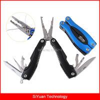 Multifunctionele Roestvrij Vouwen Vissen Tang Multi Tools met Rvs Line Cutter Hook Verwijder Vis Scaler Schede