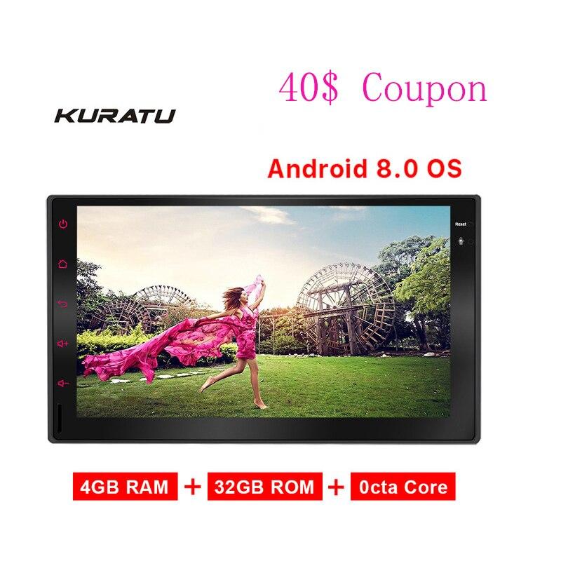Kuratu K8 Автомобильный мультимедийный android 2 din автомагнитолы gps сенсорный экран универсальный радио автомобиля Bluetooth цифровой дисплей 4 + 32 ГБ В