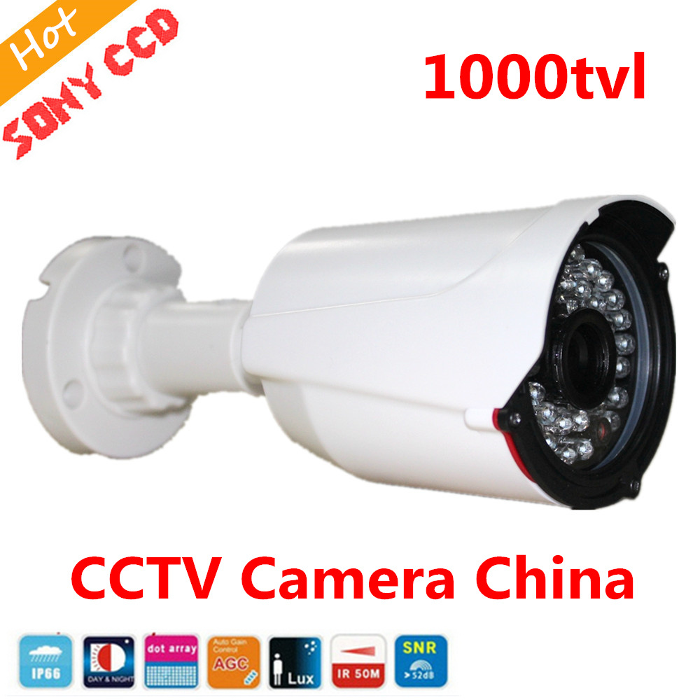 1000TVL CCTV Camera IP66 Day/Night Sony ccd IR night vision Waterproof Outdoor Surveillance Security Camera cctv analog camera sony811 ccd 700tvl day night vision outdoor metal case ip66 waterproof bullet camera for cctv montior system
