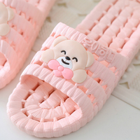2017 Bathroom Slippers Female Summer Home Home Indoor Anti Slip Leaky Bath Plastic Couple Cool Slippers