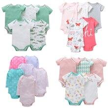 5 Packs Baby Bodysuits Toddler Infant Jumpsuits Summer Cotton Short Sleeve Boy Girls Clothing Set Cartoon  Outerwear