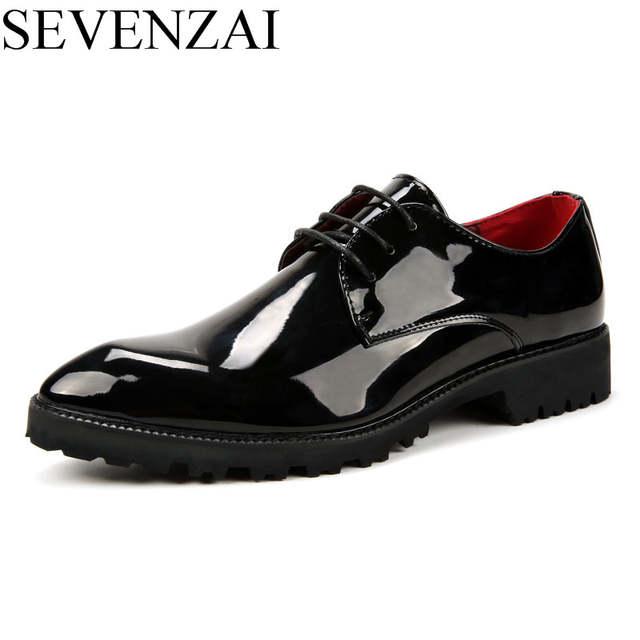 d9270c05b placeholder Impressão brilhante flor sapatos masculinos de couro de luxo  nova marca casual masculino fresco italiano vestido