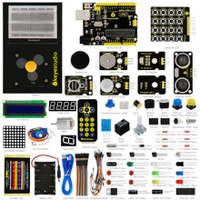 New Keyestudio Updated Maker learning kit /Starter kit for arduino starter +UNOR3+ 1602LCD servo+Chassis+PDF projet