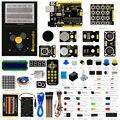 New atualizado keyestudio fabricante de kit de aprendizagem/starter kit para arduino starter + unor3 + 1602lcd servo + chassis + pdf projet