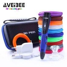 Nouveauté stylo d'impression 3D bleu avec recharge en plastique PLA 3 D stylos de dessin d'imprimante bricolage cadeau parfait pour les enfants et les adultes