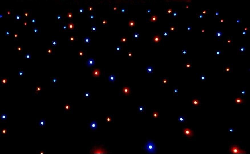 5*7 M RGBW rideau étoilé LED 700 pièces M5 lampe à LED